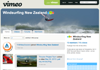 Vimeo Windsurfing NZ videos