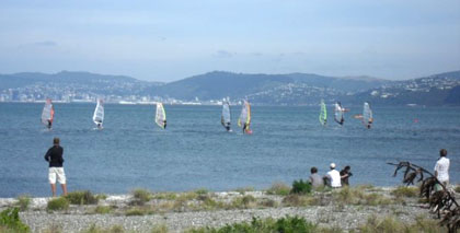 light winds at Petone start 2010 Harbour Blast
